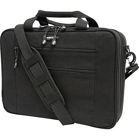 "Mobile Edge Eco-Friendly Carrying Case (Briefcase) for 17"" Notebook - Black - Cotton Canvas, Poly Fur Interior - 12.3"" Height x 4.5"" Width"