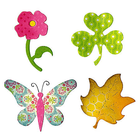 Sizzix® Bigz™ Dies, Butterfly, Flower, Leaf And Shamrock