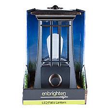 Enbrighten Mission LED Patio Lantern 9