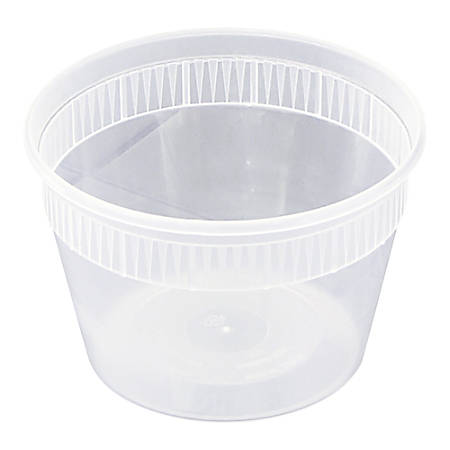 Pactiv DELItainer® Microwavable Container Combos, 0.5 Qt, Clear, Carton Of 240 Containers