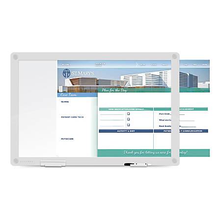 "WorkPro™ Custom Print Glass Dry-Erase Presentation Board, 36-1/2"" x 24-1/2"", White"