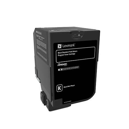 Lexmark™ Unison Return Program Toner Cartridge, 74C1SK0, Black