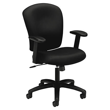 Basyx By Hon Hvl220 Height Adjustable Arms Pneumatic Task Chair 41 H