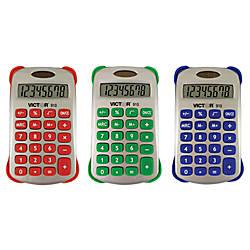 Victor Colorful 8 Digit Handheld Calculators