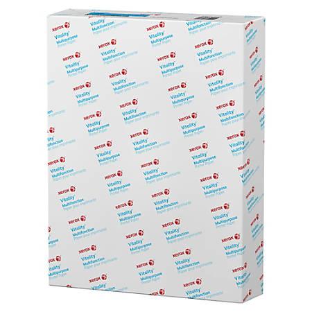 "Xerox® Vitality™ Multipurpose Paper, 3 Hole Reinforced Ring Tuff®, 8 1/2"" x 11"", 92 Brightness, 20 Lb, FSC®Certified, Ream Of 500 Sheets"
