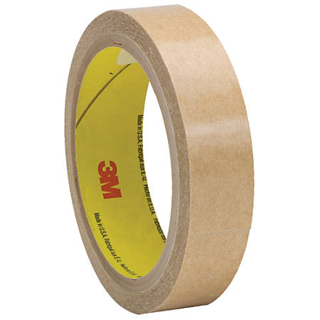 "3M™ 927 Adhesive Transfer Tape Hand Rolls, 3"" Core, 0.75"" x 60 Yd., Clear, Case Of 48"