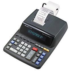 Sharp EL 2196BL Printing Calculator Black