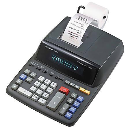 Sharp® EL-2196BL Printing Calculator, Black