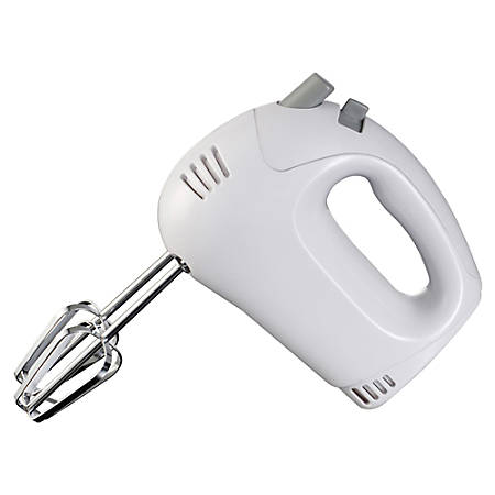 Brentwood 5-Speed Hand Mixer, White
