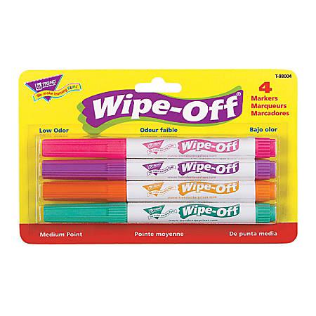 Trend Enterprises Wipe-Off® 4-Color Marker Packs, Bright Colors, Pack Of 6