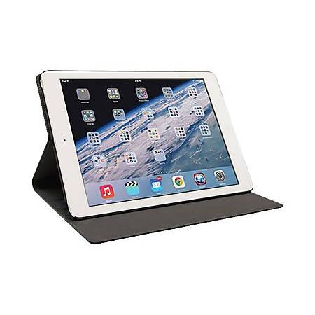 Mobile Edge SlimFit Carrying Case (Portfolio) iPad Air - Black - Shock Absorbing, Bump Resistant Interior, Drop Resistant Interior, Spill Resistant Interior, Slip Resistant Interior - Vegan Leather, MicroFiber Interior