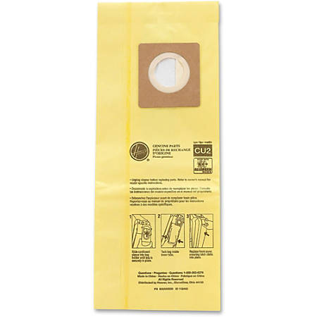 Hoover Cu2 Allergen Commercial Bags - Yellow