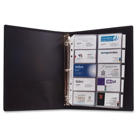 anglers 3 ring business card binder 1000 capacity 8 50 width x 11