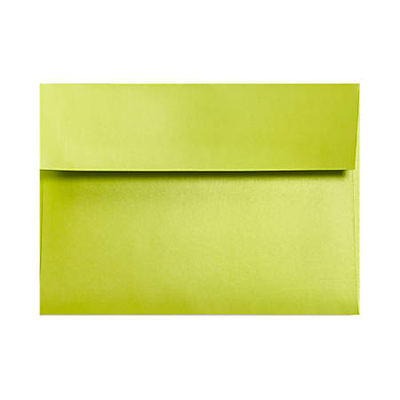 """LUX Invitation Envelopes With Moisture Closure, A1, 3 5/8"""" x 5 1/8"""", Glowing Green, Pack Of 500"""
