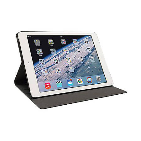 Mobile Edge SlimFit Carrying Case (Portfolio) iPad Air - Brown - Shock Absorbing, Bump Resistant Interior, Drop Resistant Interior, Spill Resistant Interior, Slip Resistant Interior - Vegan Leather, MicroFiber Interior