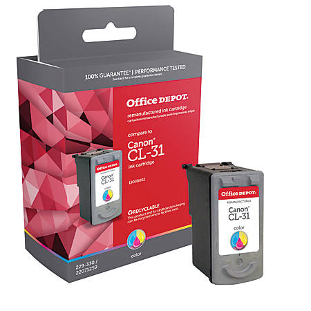Office Depot® Brand CL-31 (Canon CL-31) Remanufactured Tricolor Ink Cartridge