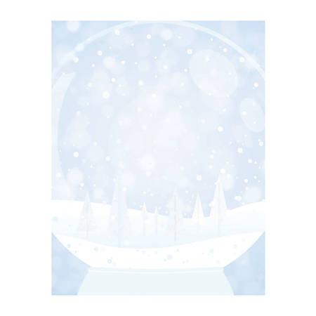 "Great Papers!® Holiday-Themed Letterhead Paper, 8 1/2"" x 11"", Snow Globe, Pack Of 80 Sheets"