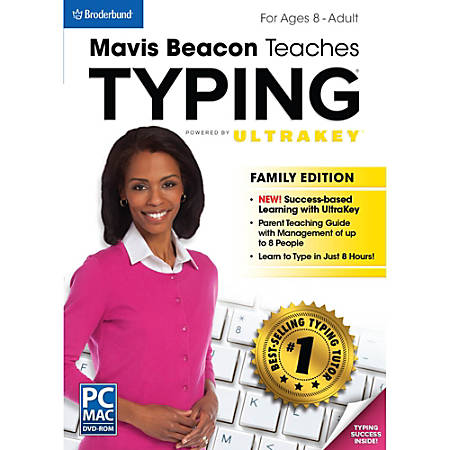 Mavis Beacon Teaches Typing Powered by UltraKey - Family Edition Mac, Download Version