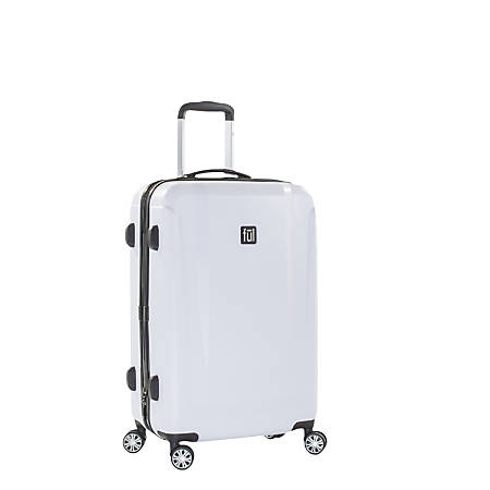 """ful Load Rider ABS Expandable Upright Rolling Suitcase, 25""""H x 17 3/8""""W x 10 13/16""""D, White"""