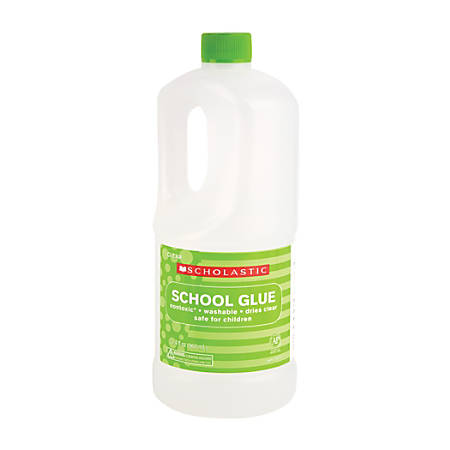 Scholastic Liquid Glue, 32.4 Oz, Clear