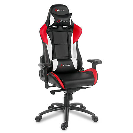 Arozzi Verona Pro V2 Faux Leather High-Back Gaming Chair, Red/Black
