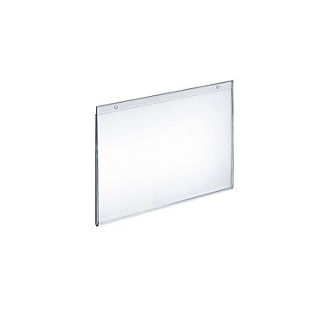 """Azar Displays Wall-Mount U-Frame Acrylic Sign Holders, 8"""" x 10"""", Clear, Pack Of 10"""