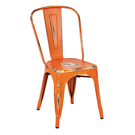 Office Star™ Bristow Armless Chairs, Antique Orange, Set Of 2 Chairs
