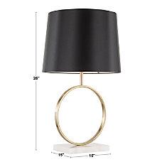 Lumisource Moon Contemporary Table Lamp WhiteGoldBlack