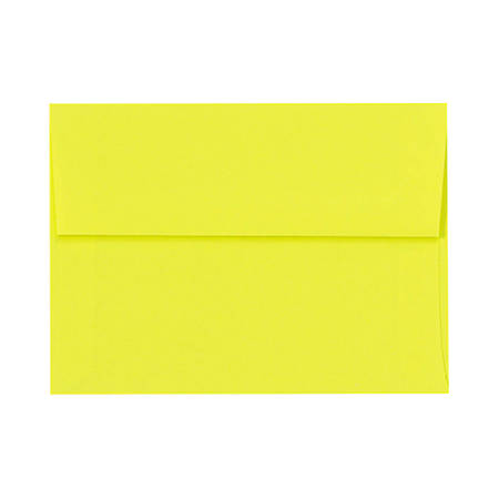 """LUX Invitation Envelopes With Peel & Press Closure, A2, 4 3/8"""" x 5 3/4"""", Citrus, Pack Of 50"""