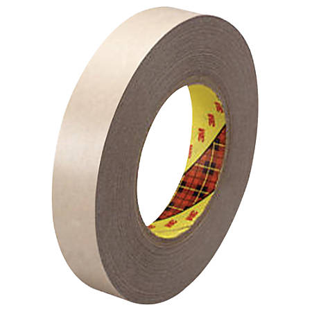 "3M™ 9471 Adhesive Transfer Tape Hand Rolls, 3"" Core, 1"" x 60 Yd., Clear, Case Of 36"