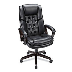 Realspace Caldwell Executive Bonded Leather High