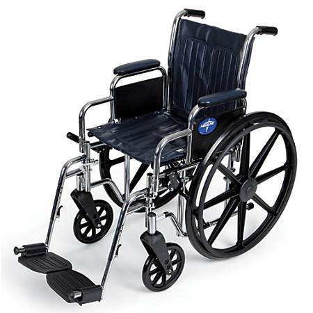 "Medline Excel 2000 Wheelchair, Swing Away, 16"" Seat, Navy"