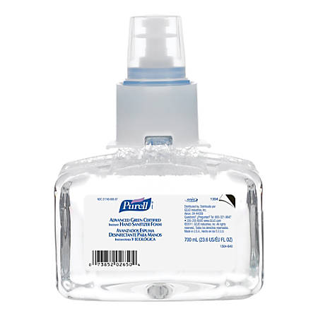 Purell® ADX Advanced Green Certified Foam Instant Hand Sanitizer, 23.6 Oz