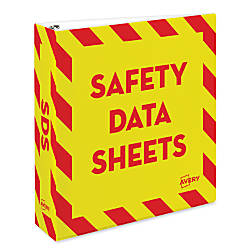 Avery Preprinted Safety Data Sheet Binder