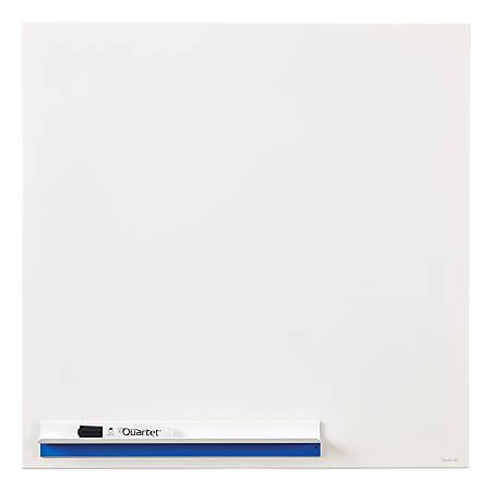 "Quartet® Continuum™ Magnetic Dry-Erase Board, Porcelain, 24"" x 24"", White"