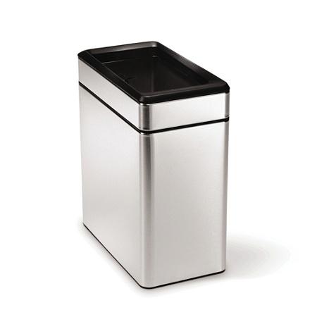 Simplehuman Rectangular Profile Open Top Trash Can 26 Gallons