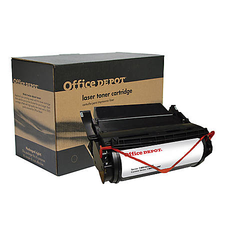 Office Depot® Brand ODT620NS (Lexmark 12A6869) Remanufactured High-Yield Black Toner Cartridge