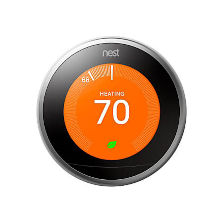 Nest Learning Thermostat (3rd Generation), Stainless Steel