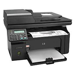 hp laserjet m1212nf monochrome laser all in one printer copier scanner fax officemax 22307380