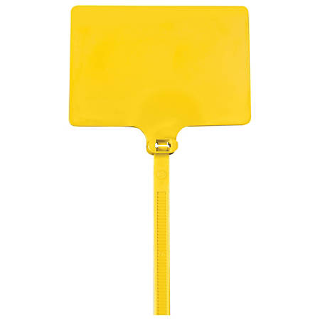 "Office Depot® Brand Identification Cable Ties, 9"", Yellow, Case Of 100"