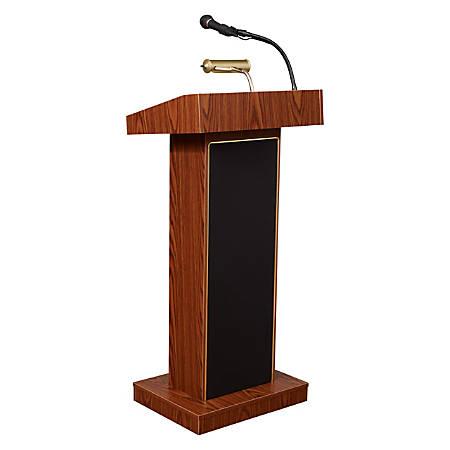 Oklahoma Sound® The Orator Fixed Height Lectern, Medium Oak