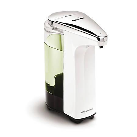 simplehuman Compact Sensor Pump For Soap, Lotion Or Sanitizer, 8 Fl. Oz., White