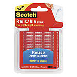 "Scotch® Reusable Adhesive Strips, 1"" x 3"", Pack Of 6"