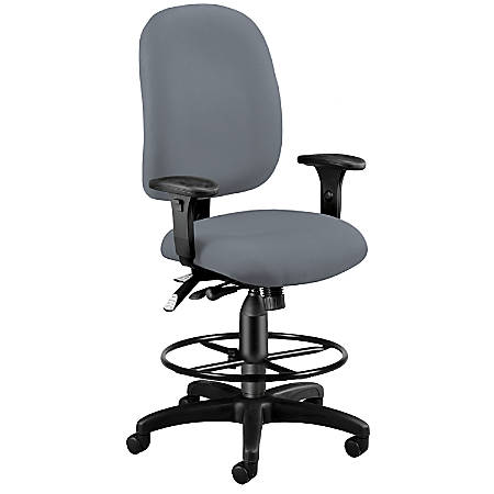 OFM Ergonomic Task Chair With Drafting Kit, Gray
