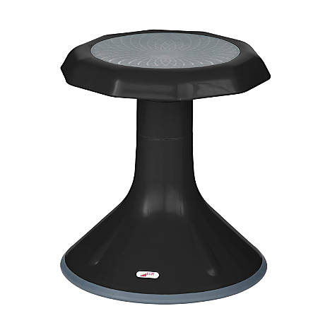 "ECR4Kids ACE Stool, 15 1/4""H, Black"