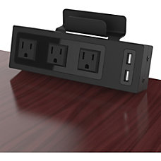 ChargeTech Desktop Outlets Power Strip 3