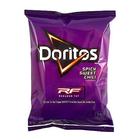 Doritos Reduced Fat Spicy Sweet Chili Chips, 1 Oz, Pack Of 72