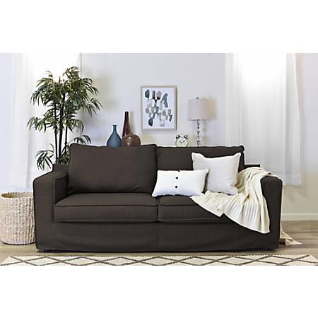 "Serta Colton 85"" Sofa With Slipcover, Brown"