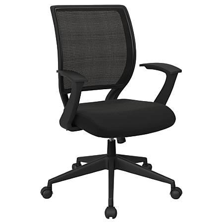 Office Star™ Work Smart Mesh Task Chair, Midnight Black/Ebony/Black