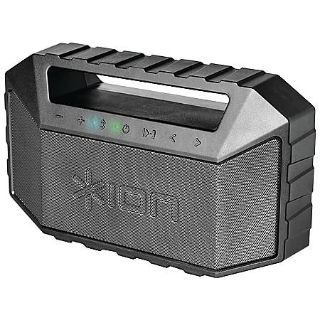 ION Plunge Speaker System - 10 W RMS - Wireless Speaker(s) - Battery Rechargeable - Gray - Bluetooth - USB - Passive Radiator, Bass Radiator, Microphone